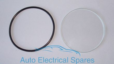010161 FLAT Glass & Seal for Lucas BM4 ammeter